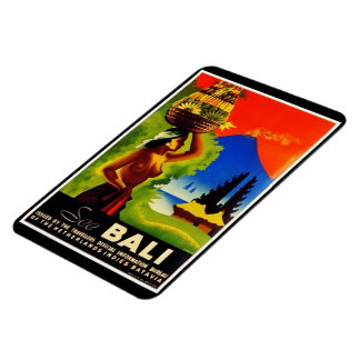 Vintage Indonesia Bali Travel Poster Rectangular Photo Magnet