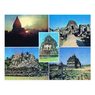 Vintage Indonesia, complejo del templo de Prambana Postales