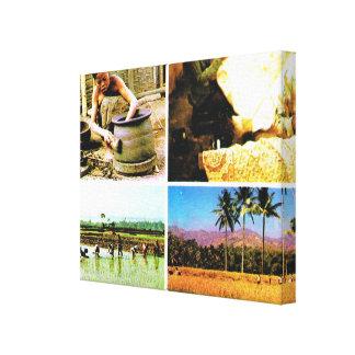 Vintage Indonesia, Java, Javanese lifestyle Canvas Print