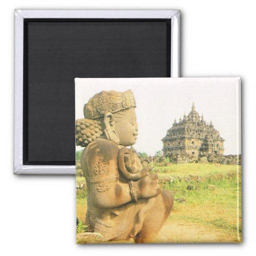 Vintage Indonesia, Java, Pleosan temple, Prabanan Refrigerator Magnet