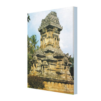 Vintage Indonesia, Java, Singosari Temple, Malang, Canvas Print