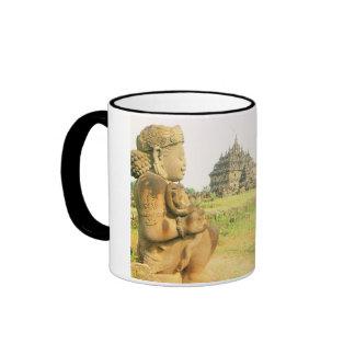 Vintage Indonesia, Java, templo de Plaosan, Taza De Dos Colores
