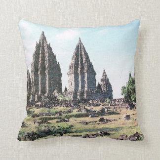 Vintage Indonesia, Java, templo hindú de Prabanam, Cojín