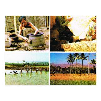 Vintage Indonesia, Javanese lifestyle Post Card