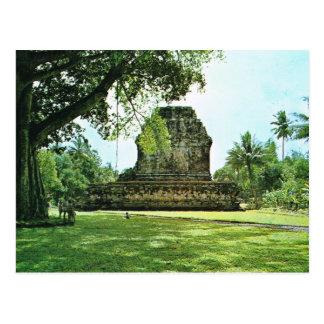 Vintage Indonesia, Mendut, templo budista Postales