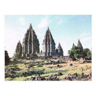 Vintage Indonesia, Prambanan, templo del siglo IX Postales