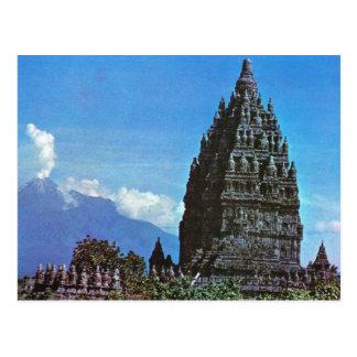 Vintage Indonesia, Prambanan, templo hindú Tarjeta Postal