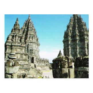 Vintage Indonesia, Prambanan, templo Java Postal