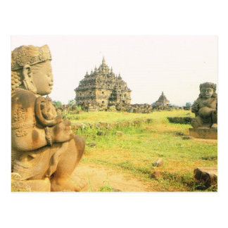 Vintage Indonesia, templo de Plaosan, cerca de Pra Postal