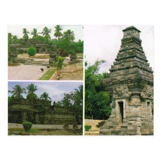 Vintage Indonesia, templos de Penataran, Bitar, Tarjetas Postales