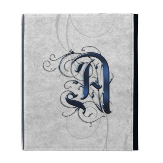 Vintage Initial A iPad Case