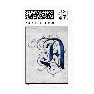 Vintage Initial A Postage Stamp
