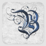 Vintage Initial B Stickers