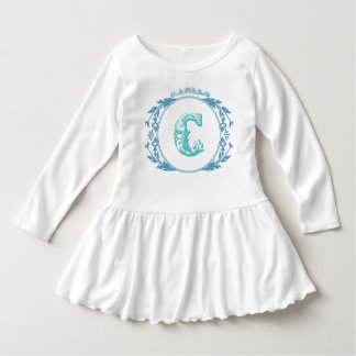 "Vintage Initial ""C"" Toddler Girl Dress"