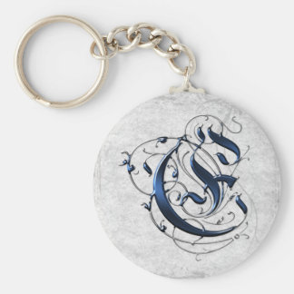 Vintage Initial E Keychain