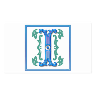Vintage Initial I - Monogram I Double-Sided Standard Business Cards (Pack Of 100)