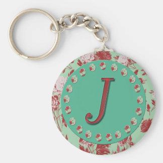 Vintage Initial J Keychain