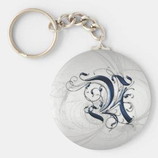 Vintage Initial N Keychain