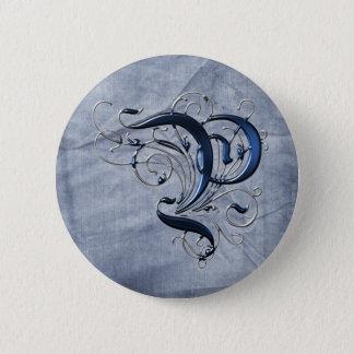 Vintage Initial P Button