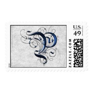 Vintage Initial P Stamp