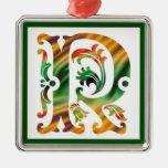 Vintage Initial R - Monogram R Ornament