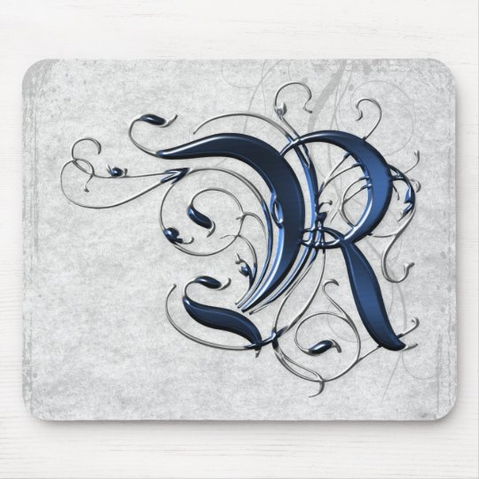 Vintage Initial R Mouse Pad