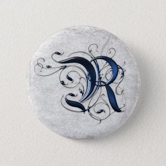 Vintage Initial R Pinback Button