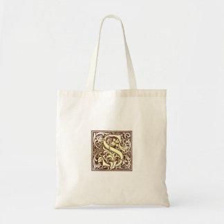 Vintage Initial S Tote Bags