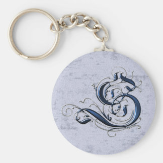 Vintage Initial S Keychain