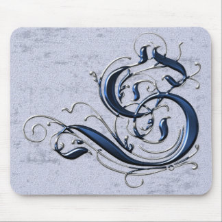 Vintage Initial S Mouse Pad