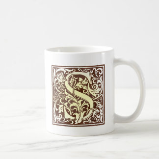 Vintage Initial  S Coffee Mugs
