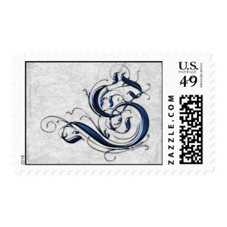 Vintage Initial S Postage Stamps