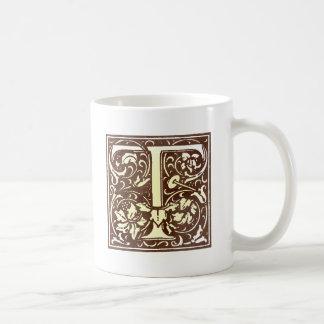 Vintage Initial T Coffee Mug