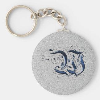 Vintage Initial W Key Chain