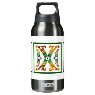 Vintage Initial X - Monogram X Insulated Water Bottle