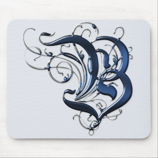 Vintage Initials B Mouse Pad