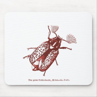 Vintage Insect | Fuller Beetles | Red Mouse Pad