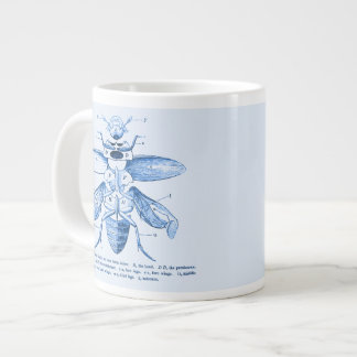 Vintage Insect Image   Beetles   Blue Giant Coffee Mug