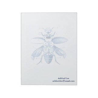Vintage Insect Image | Beetles | Blue Note Pad