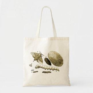 Vintage Insect Image | Silkworm | Moth Budget Tote Bag