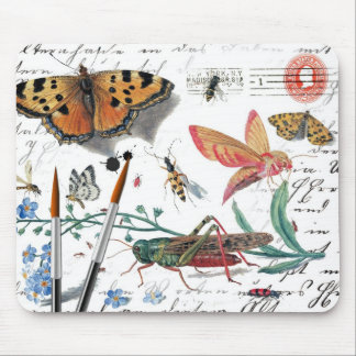 Vintage Insect Letter and postmark Mouse Pad