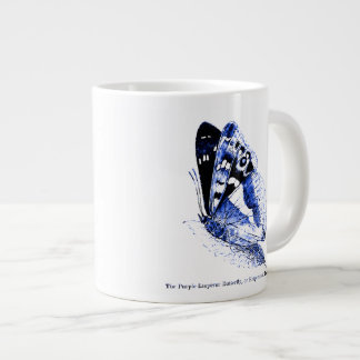 Vintage Insect | Purple Emperor butterfly | Blue Large Coffee Mug