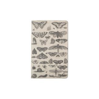 "Vintage Insects 5.75 x 3.75"" Small Moleskine Pocket Moleskine Notebook"