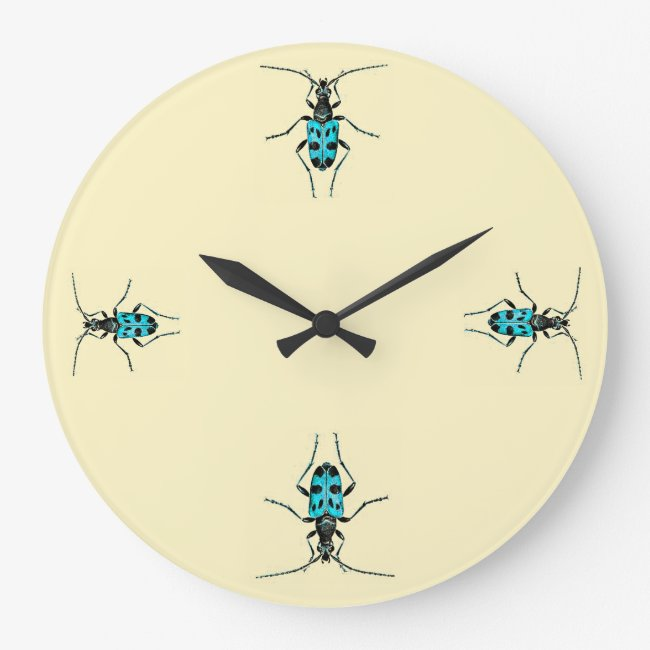 Vintage Insects Blue Beetle Time Entomology