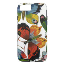 Vintage Insects or Bugs, Beautiful Butterflies iPhone 8/7 Case