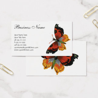 Vintage Insects or Bugs, Beautiful Butterfly Business Card