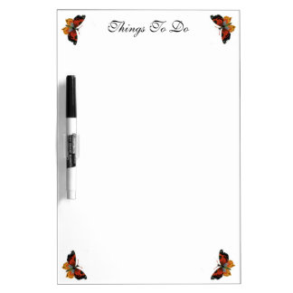 Vintage Insects or Bugs, Beautiful Butterfly Dry-Erase Board