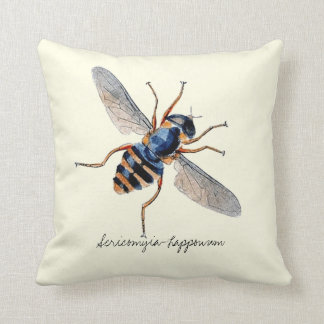 Vintage Insects Scientific Entomology Fly Throw Pillow