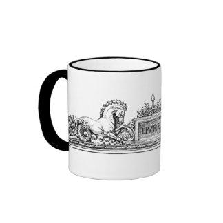 Vintage - insignias del Seahorse y del grifo Taza De Café