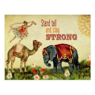 Vintage Inspirational Dancer Postcard